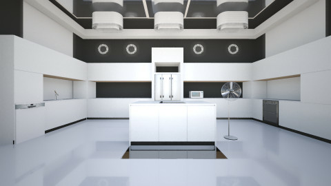 White and Black Kitchen - Kitchen - by Lisa Johnson_284
