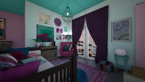 Boho Living - Living room  - by RettaLynn