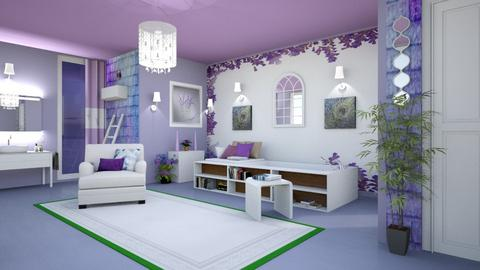 lavender bath - Modern - Bathroom - by zayneb_17
