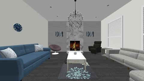WoodWithBlueThePerfectTwo - Rustic - Living room  - by jaiden2006