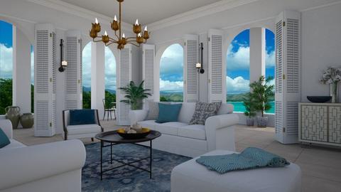 Mediterranean living - Living room  - by Tuija