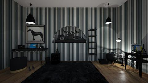 Goths room_ - Modern - Bedroom  - by matildabeast