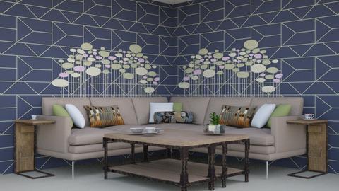 Beige Paradise - Living room  - by Jahsoftball_