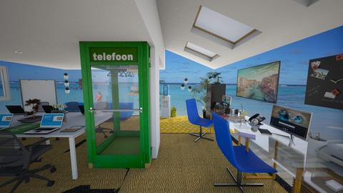 blue green office  - by Karen Priest