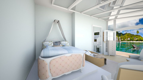 Beach House Master Bed - Glamour - Bedroom  - by 4EvaLaura