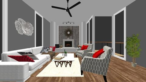 Comfy Modern Living Room - Rustic - Living room  - by haz