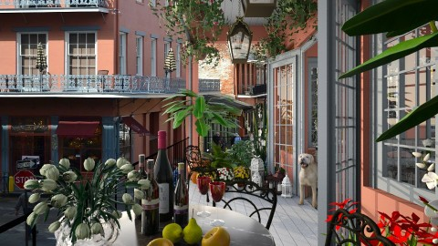 Design 141 Small Balcony French Quarter - Garden  - by Daisy320