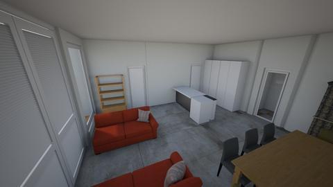 Bloem 2 banken doorkijk  - Modern - Living room  - by Jacqueline Ben
