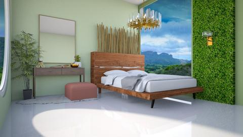Relaxing Jungle_3 - Modern - Bedroom  - by mydreamjob25