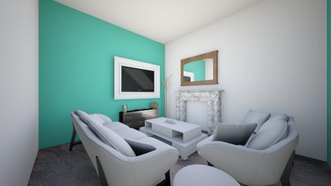 Tiny Teal - Living room  - by violetpeaks
