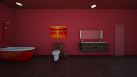 red bathroom_emily - Bathroom  - by Dodgergirl124