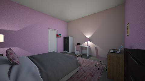 design of the attic  - Bedroom  - by Lowri_mai22321