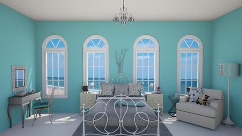 turquoise bedroom - by fippydude