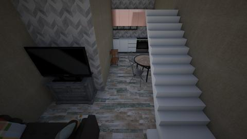 Tiny House Main Floor - Living room  - by AmbrielFC