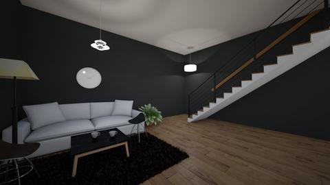 spoko pokoj ze schodami - Living room  - by gamewiner