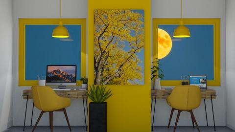 yellow workspace - Office  - by Corzer