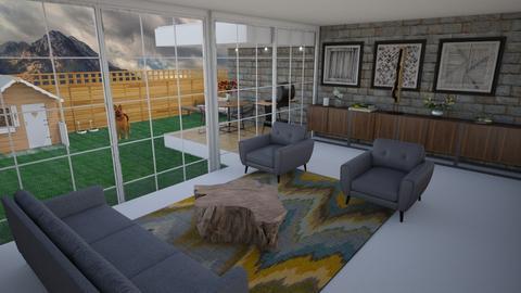 Living Room with Garden - by Tanem Kutlu