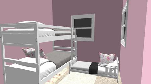 Girls room - Bedroom  - by Frugal Girl