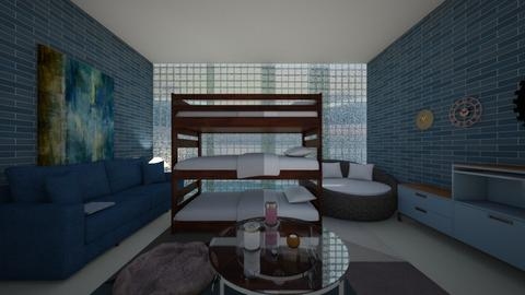 oceanside motel room - Bedroom  - by noadesign