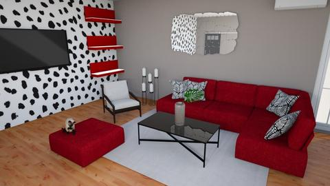 red sofa - Living room  - by Psoglavik