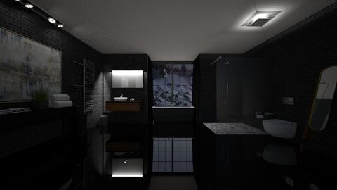 Black Bathroom - Bathroom  - by Tanem Kutlu