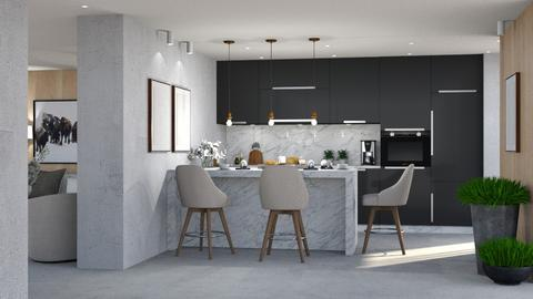 593 - Modern - Kitchen  - by Claudia Correia