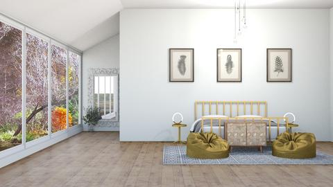 A Gold Bedroom - Bedroom  - by 021snoopy205