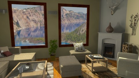 snow cottage  - Living room - by Strandreas