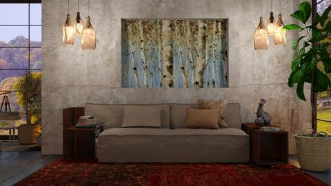 M_ Birch trees2 - Living room  - by milyca8
