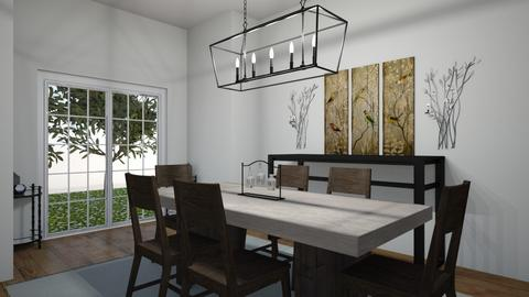 dinning room outside look - Modern - Dining room - by cocoscreation