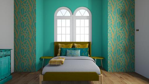 Turquoise and Metal - Bedroom - by stmaiorino