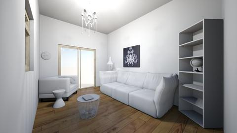 white living room - Living room  - by stacey patterson