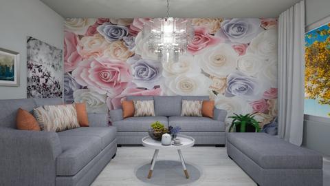 Chandelier Flower Room - Modern - Living room  - by Agamanta
