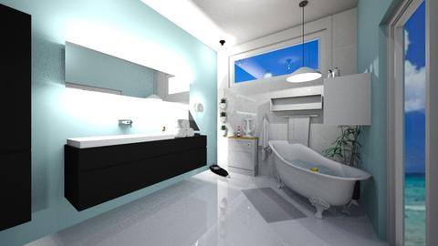 Beach themed Bathroom - Bathroom  - by Kawaii Cat