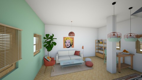 nr 5 - Living room - by asiak4