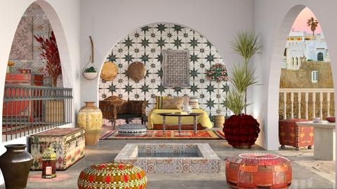 Riad - Living room  - by Sally Simpson