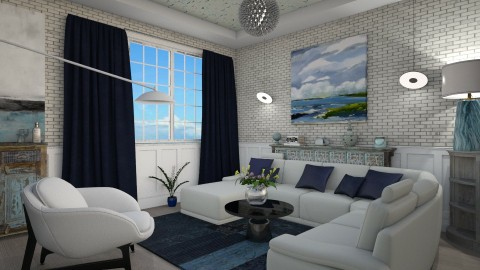 M_Blue Horizon - Eclectic - Living room - by milyca8