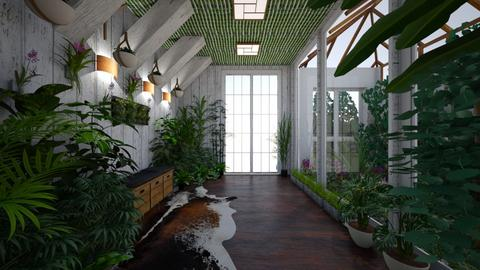 Urban Jungle Hallway - Office  - by Nina Colin