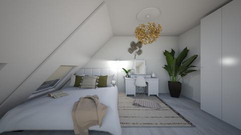 Attic  - Rustic - Bedroom  - by Sloth1234