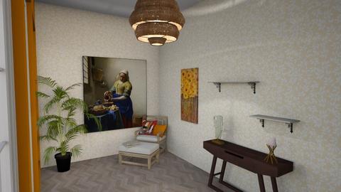 tiny messy living room - Living room - by bo didderen