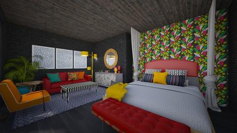Electic Pop Art Jungle  - Bedroom  - by DecoMaster5