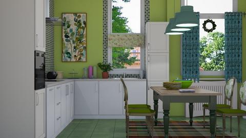 green kitchen - Kitchen  - by nat mi