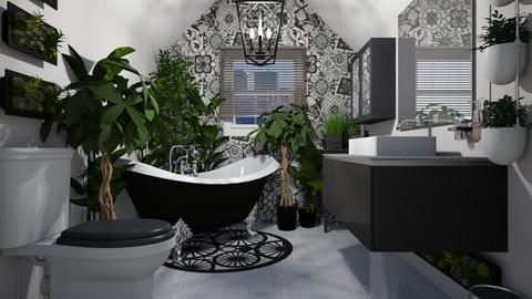 Urban Jungle Bathroom - Bathroom  - by CassW