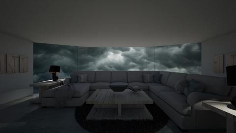 Stormy Day Living Room - Living room  - by dogsrmylife