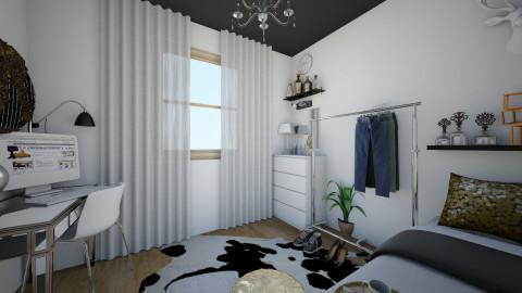 the minimal bedroom - Bedroom - by Adrii