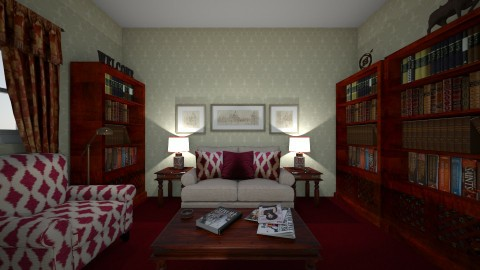 Reading Room - Classic - Office  - by almecor2311