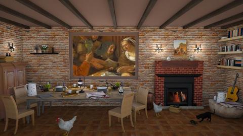 Jan Steen Style Kitchen - by KarJef