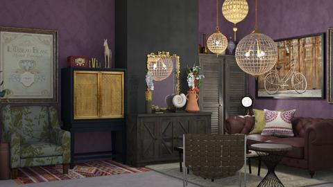 salon retro - Vintage - Living room  - by yasmin1103