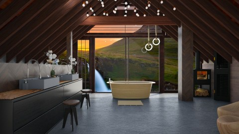 wood - Modern - Bathroom  - by Evangeline_The_Unicorn