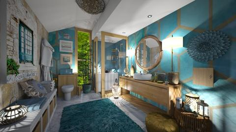 Gold and turquoise - Bathroom - by AlexDi
